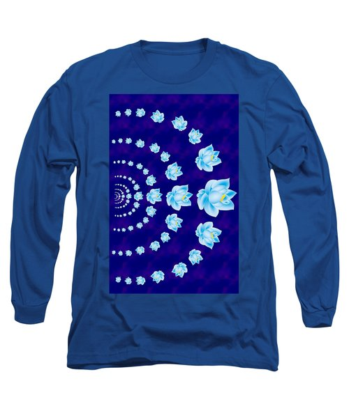 Blue Lotus Tunnel Long Sleeve T-Shirt