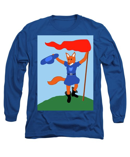 Long Sleeve T-Shirt featuring the painting Reynard The Fairy Tale Fox by Marian Cates
