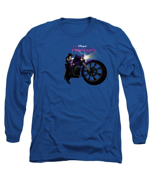 Long Sleeve T-Shirt featuring the digital art I Grew Up With Purplerain by Nelson dedos Garcia