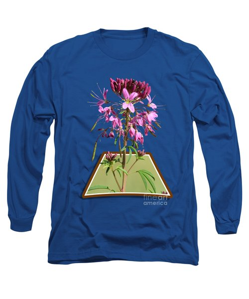 Rocky Mountain Bee Plant Long Sleeve T-Shirt by Shane Bechler