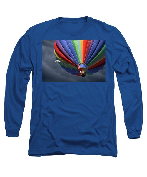 Long Sleeve T-Shirt featuring the photograph Ascending To The Storm by Marie Leslie