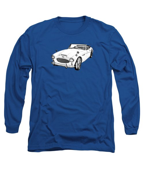 Austin Healey 300 Sports Car Drawing Long Sleeve T-Shirt by Keith Webber Jr