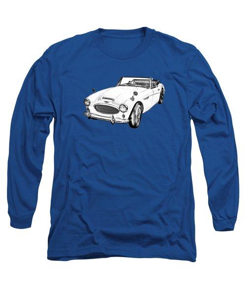 Austin Healey 300 Sports Car Illustration Long Sleeve T-Shirt