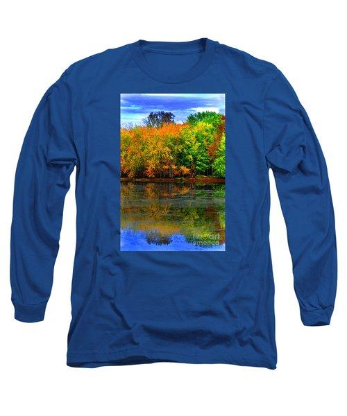 Autumn Sings Long Sleeve T-Shirt by Diane E Berry
