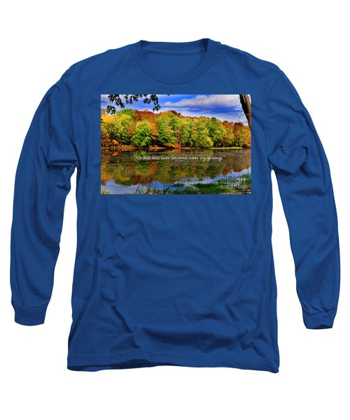 Long Sleeve T-Shirt featuring the photograph Autumn Wonders Giving by Diane E Berry