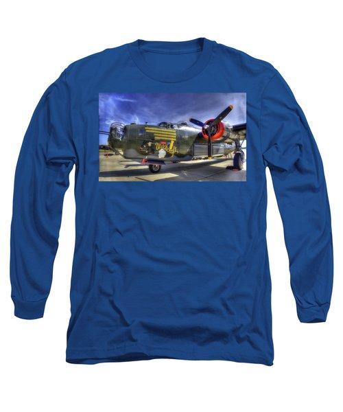 B-24 Long Sleeve T-Shirt by Joe  Palermo