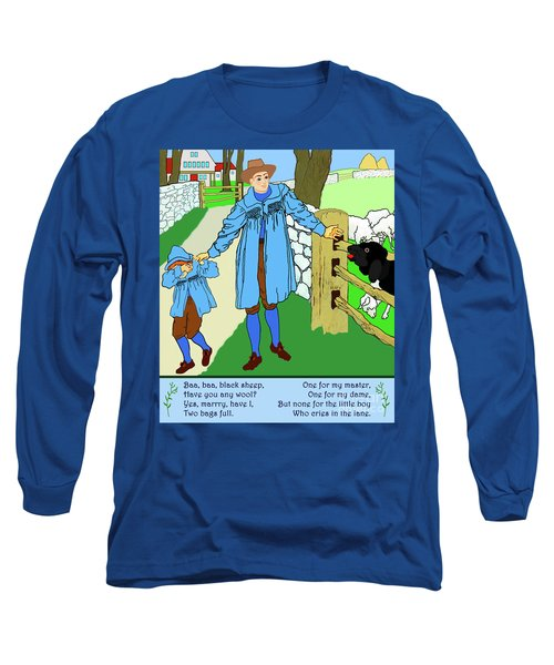 Baa, Baa, Black Sheep Nursery Rhyme Long Sleeve T-Shirt