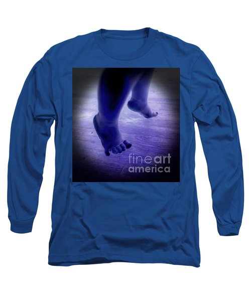 Baby Blu Dancing Royal Feet Long Sleeve T-Shirt by Talisa Hartley