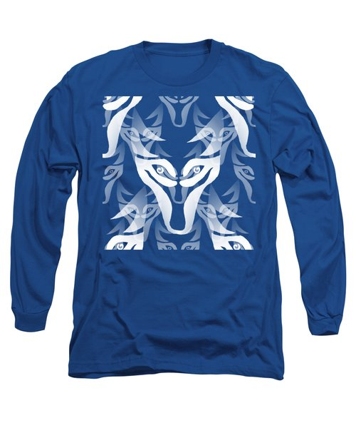 Background Choice White Wolf Long Sleeve T-Shirt