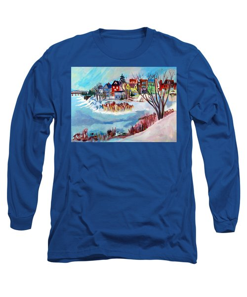 Backside Of Schenectady Stockade In February Long Sleeve T-Shirt