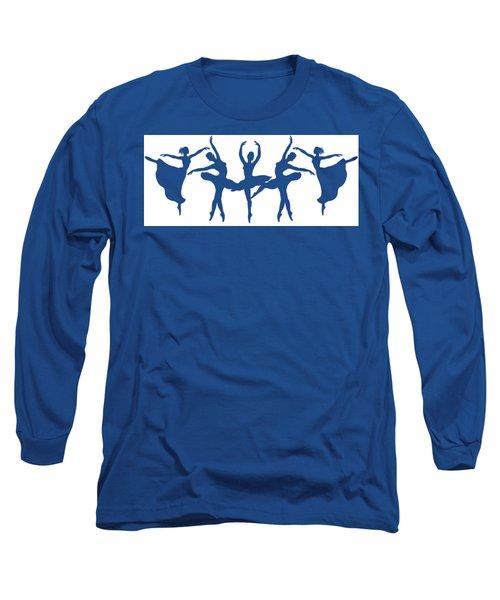 Ballerinas Dancing Silhouettes Long Sleeve T-Shirt