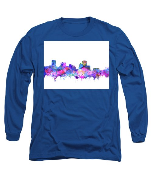 Long Sleeve T-Shirt featuring the painting Baltimore Skyline Watercolor 4 by Bekim Art