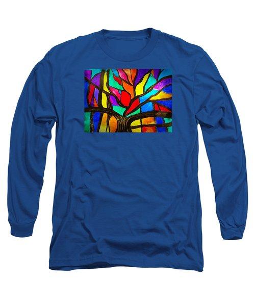 Banyan Tree Abstract Long Sleeve T-Shirt