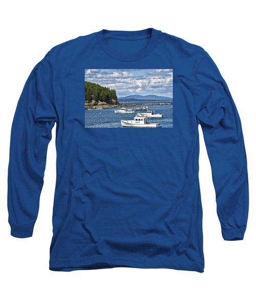 Bar Harbor Lobster Boats - Frenchman Bay Long Sleeve T-Shirt