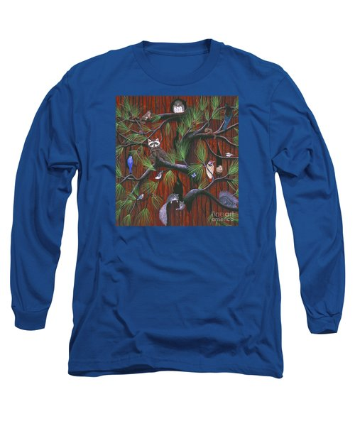 Long Sleeve T-Shirt featuring the painting Bark by Jennifer Lake