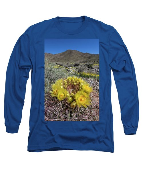 Long Sleeve T-Shirt featuring the photograph Barrel Cactus Super Bloom by Peter Tellone