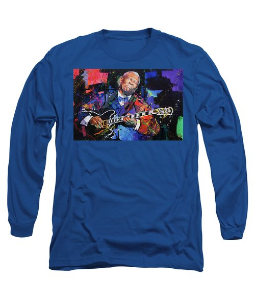 Bb King Long Sleeve T-Shirt by Richard Day