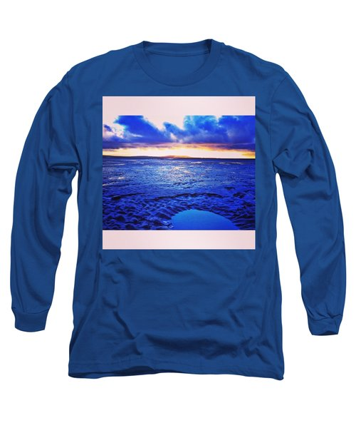 Beach Puddle. #beach #sunset Long Sleeve T-Shirt