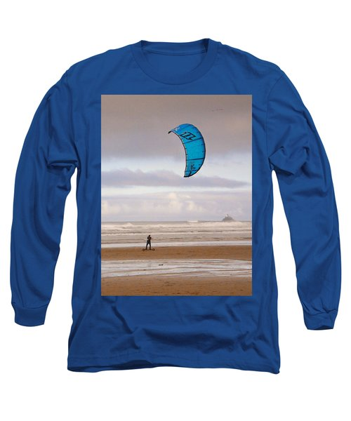 Beach Surfer Long Sleeve T-Shirt by Wendy McKennon