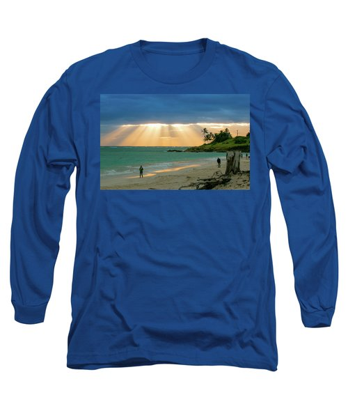 Beach Walk At Sunrise Long Sleeve T-Shirt
