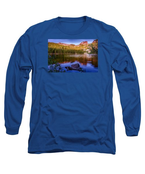 Bear Lake 1 Long Sleeve T-Shirt by Mary Angelini