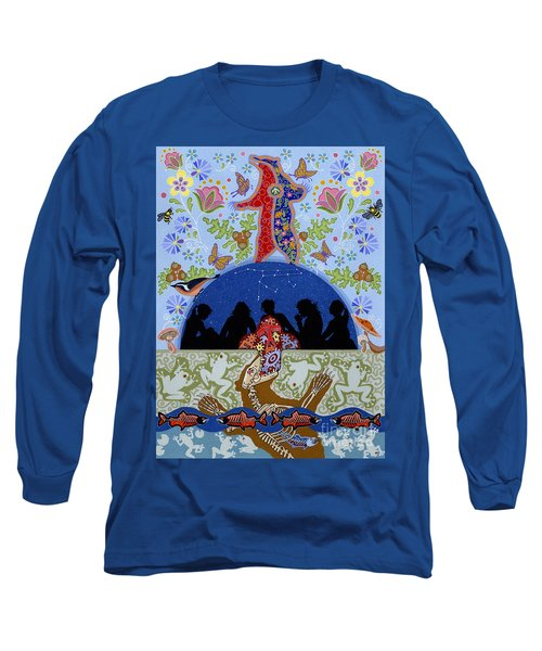 Long Sleeve T-Shirt featuring the painting Bear Medicine by Chholing Taha