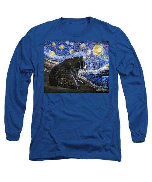 Beary Starry Nights Long Sleeve T-Shirt by J W Baker