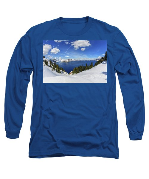 Beautiful Crater Lake Long Sleeve T-Shirt