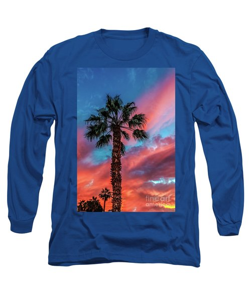 Long Sleeve T-Shirt featuring the photograph Beautiful Palm Tree by Robert Bales