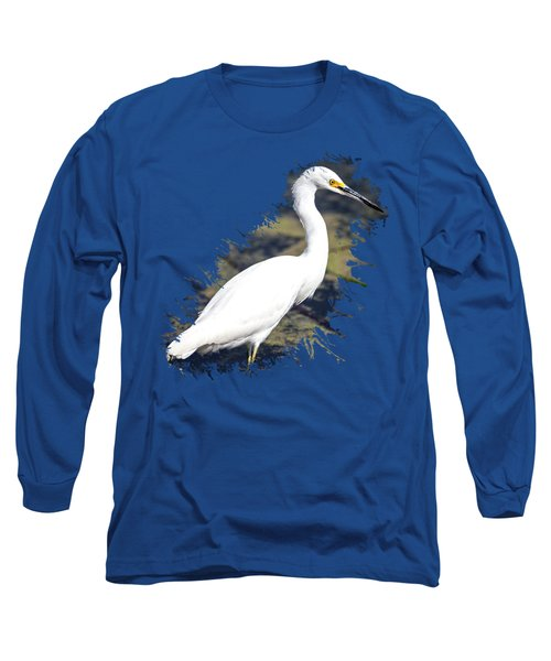 Beautiful Snowy Egret Long Sleeve T-Shirt
