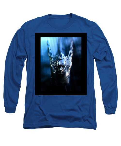 Beauty In Black And Blue Long Sleeve T-Shirt by David Lee Thompson
