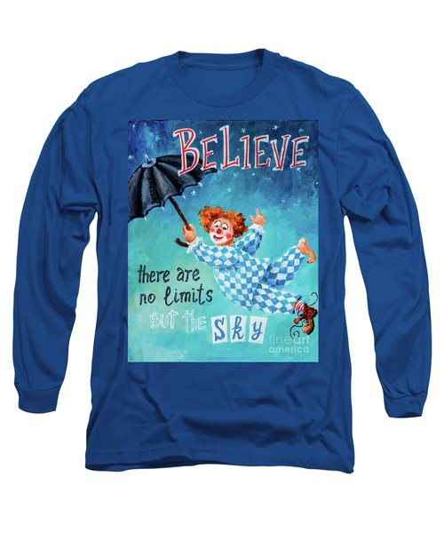Long Sleeve T-Shirt featuring the painting Believe by Igor Postash