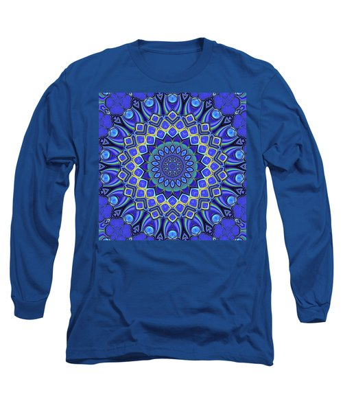 Long Sleeve T-Shirt featuring the digital art Bella - Blue by Wendy J St Christopher