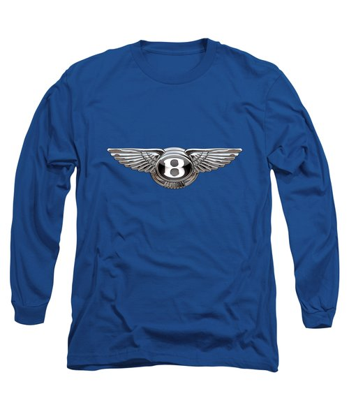 Bentley 3 D Badge Special Edition On Blue Long Sleeve T-Shirt