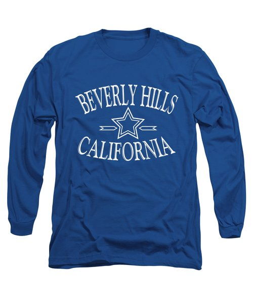 Beverly Hills California - Tshirt Design Long Sleeve T-Shirt by Art America Online Gallery
