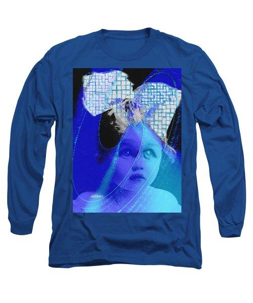 Biddidi-bobbidi-blue Long Sleeve T-Shirt by Seth Weaver
