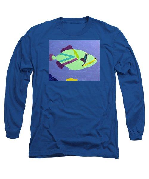 Big Fish In A Small Pond Long Sleeve T-Shirt by Karen Nicholson