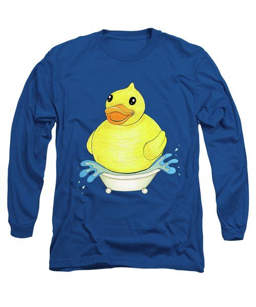 Big Happy Rubber Duck Long Sleeve T-Shirt