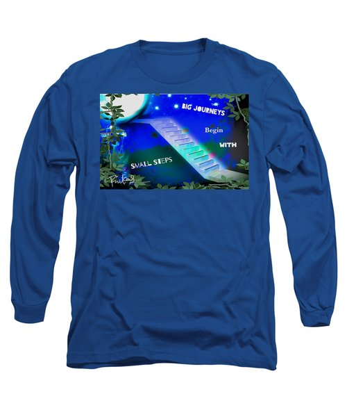 Long Sleeve T-Shirt featuring the digital art Big Journeys......small Steps by Diana Riukas