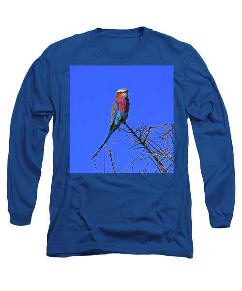 Bird - Lilac-breasted Roller Long Sleeve T-Shirt