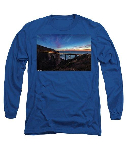 Bixby Bridge Sunset Long Sleeve T-Shirt