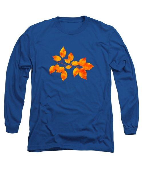 Black Cherry Pressed Leaf Art Long Sleeve T-Shirt