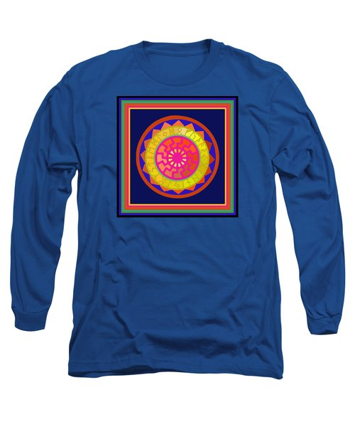 Black Sun Mandala Rune Calendar Long Sleeve T-Shirt