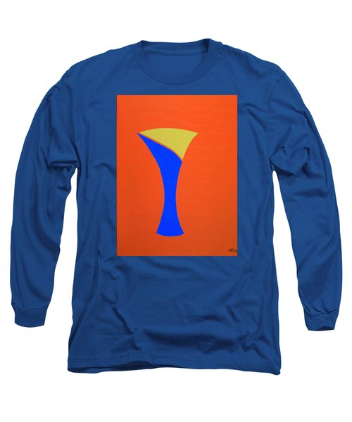 Long Sleeve T-Shirt featuring the painting Blue 22 by Bill OConnor