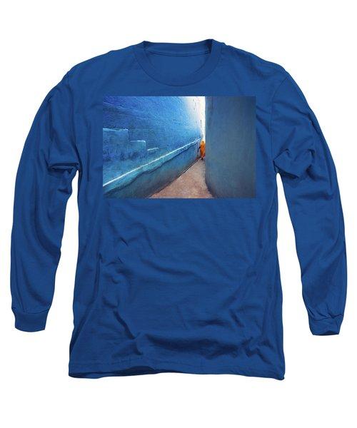 Blue Alleyway Long Sleeve T-Shirt