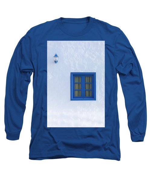 Blue And White Long Sleeve T-Shirt