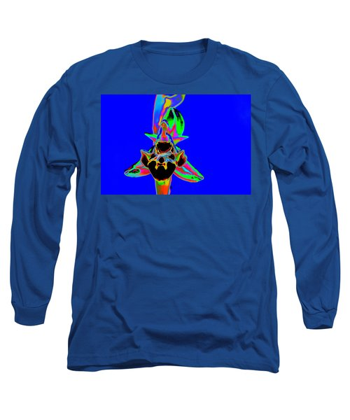 Blue Bee Orchid Long Sleeve T-Shirt by Richard Patmore