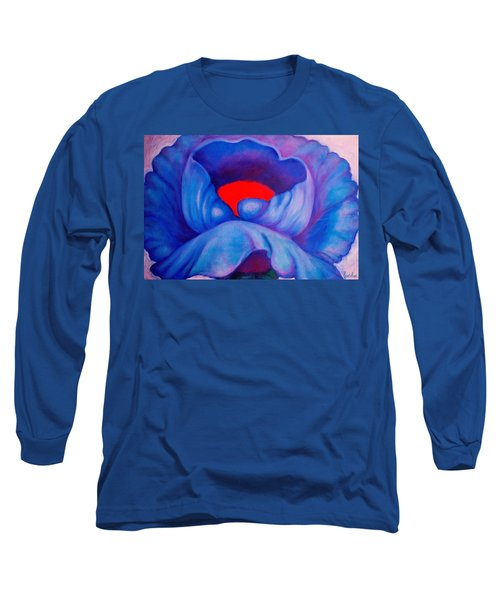 Blue Bloom Long Sleeve T-Shirt
