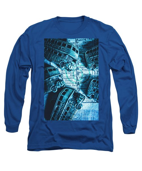 Blue Britain Bus Bill Long Sleeve T-Shirt