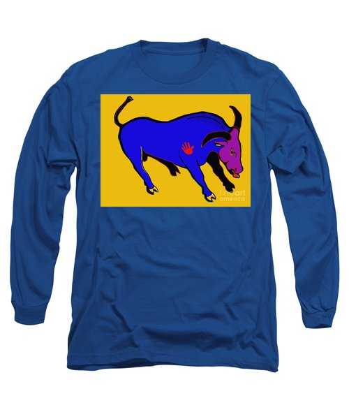 Blue Bull Long Sleeve T-Shirt by Hans Magden